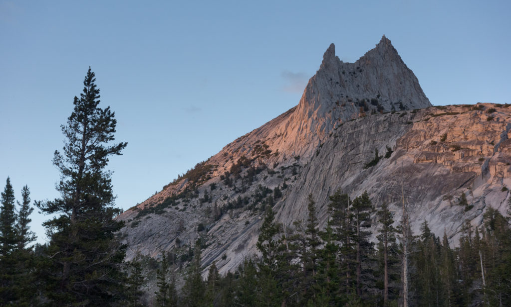 Alpine glow on Cathedral Peak