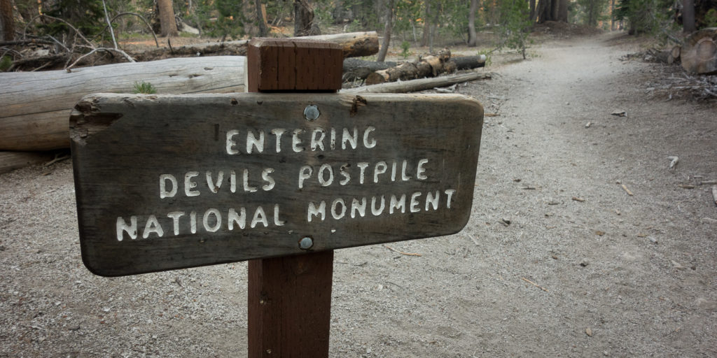 Entering Devils Postpile National Monument