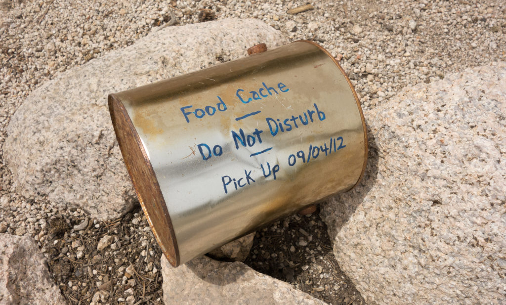 Food caching is illegal