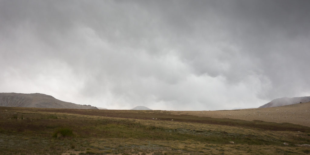 Rain over Big Horn Plateau