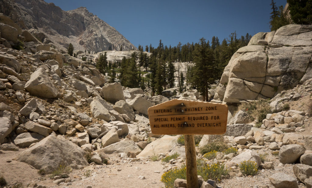 Entering Mt. Whitney Zone
